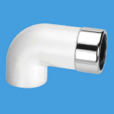 Extended Elbow 32mm / 35mm Chrome to 1.1/4 Solvent Pipe - 39000076